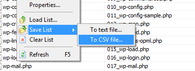 Save all data to CSV file
