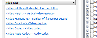 Video tags