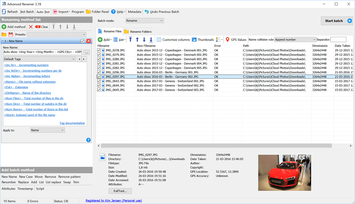 Advanced Renamer (ARen) v3.54 Screenshot