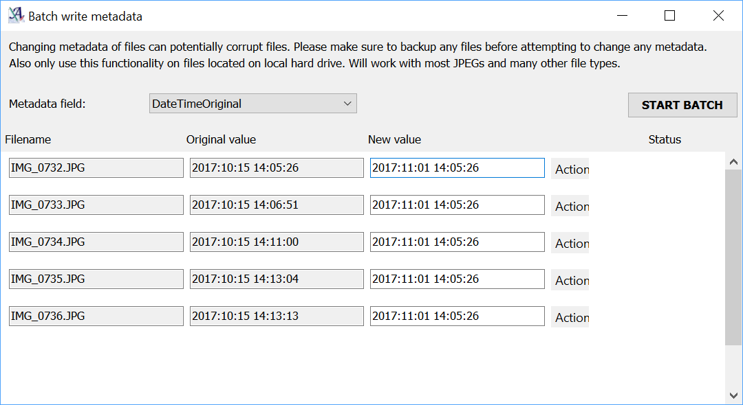 Advanced Renamer - Metadata write
